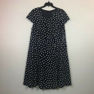 Jessica Howard 18W Navy Polka Dot Dress NWT BI37